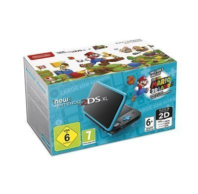 New Nintendo 2DS XL Nero Turchese + Super Mario 3D Land