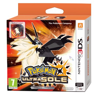 Pokemon Ultrasole Fan Edition 3DS + Steelbook
