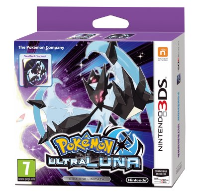 Pokemon Ultraluna Fan Edition 3DS + Steelbook