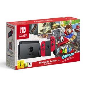 Nintendo Switch Joy-Con Rossi + Mario Odyssey Bundle
