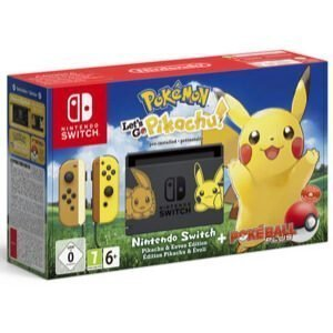 Nintendo Swicth + Pokemon Let's Go Pikachu Bundle
