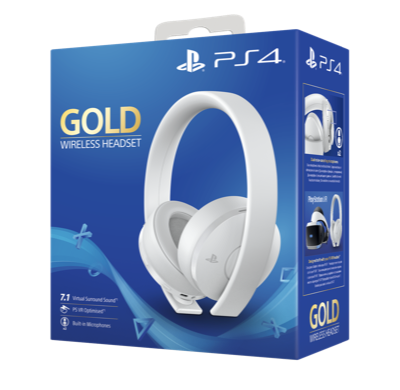 Gold Wireless Headset Bianche PS4