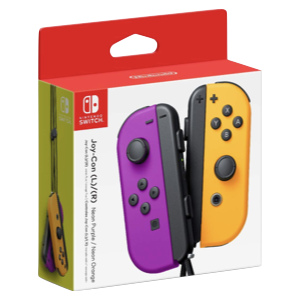 Set 2 Joy-Con Viola Arancio Neon Nintendo Switch