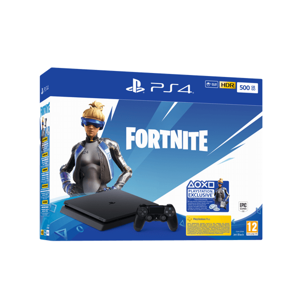 Sony PlayStation 4 PS4 Slim 500 Gb + Fortnite Voucher 2019