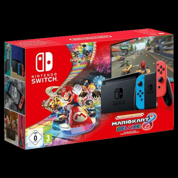 Nintendo Switch Joy-Con Color Mario Kart 8 Deluxe Bundle