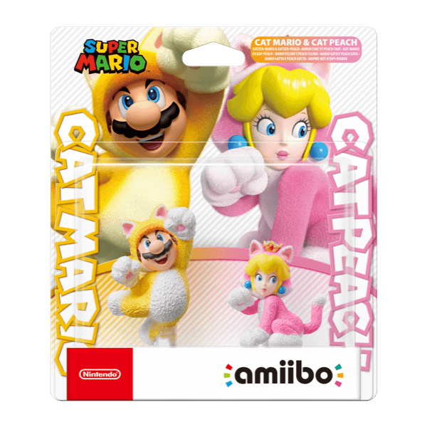 Amiibo Mario Gatto e Peach Gatto