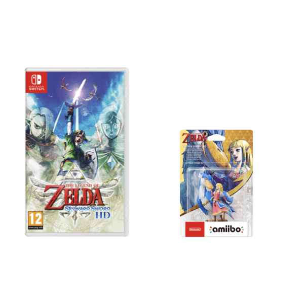 Amiibo Zelda Skyward Sword e Solcanubi + The Legend of Zelda Skyward Sword HD