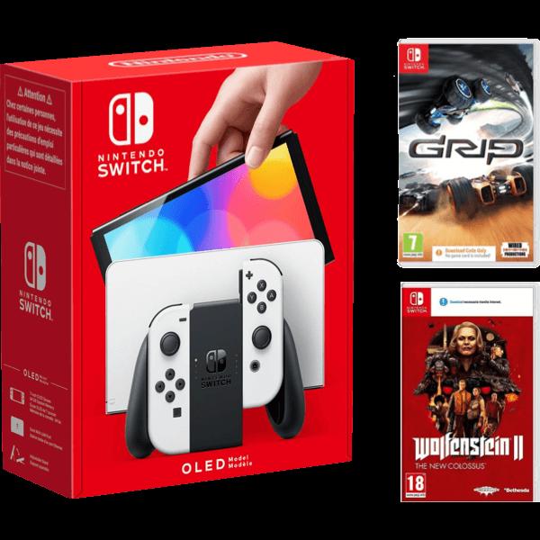 Nintendo Switch OLED Rosso Blu Bundle A